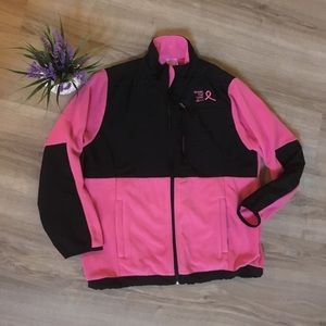 Think pink breast cancer awesome fleece jacket s